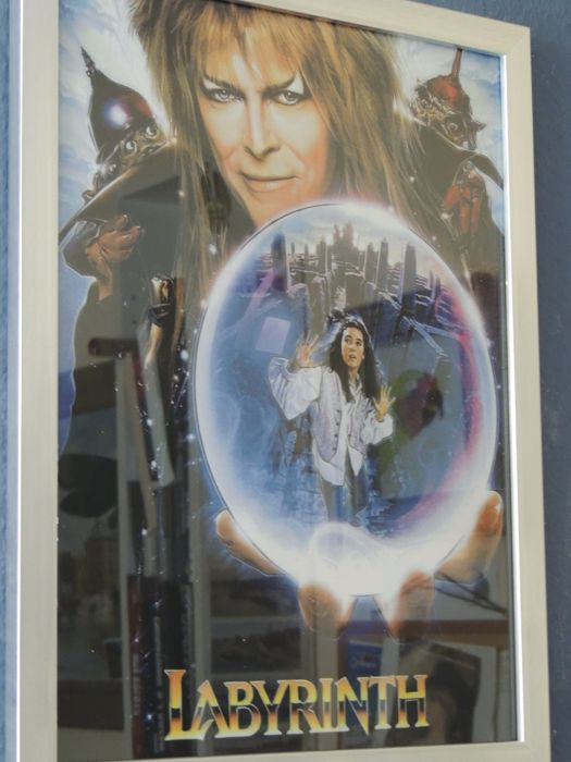 Stunning - Big - Rare - David Bowie 2016 - Affiche - Labyrinth - With Bonus Two David Bowie Memorail Dollars.
