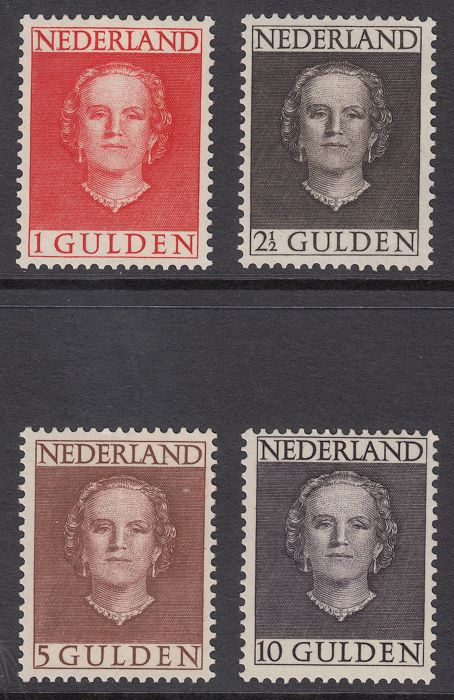 Nederland 1949 - Queen Juliana type 'En Face' - NVPH 534/537