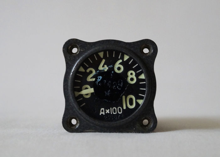 Original Russian( USSR/СССР ) Ammeter A-3 was mounted on a military helicopter MI - 8. 60th years of the 20th century. №23067