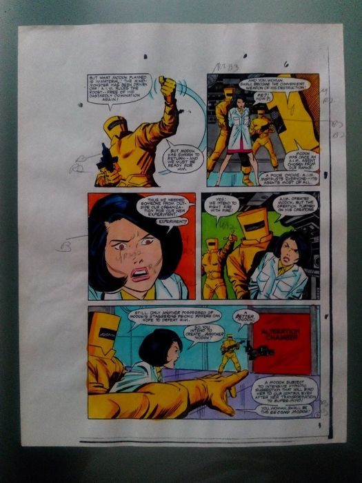 hulk 289 - Original hand coloured / inked page with corection - Other - (1983)