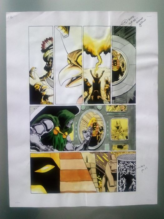 thanos : the end - Original hand coloured / inked page with corection - Other - (2003)