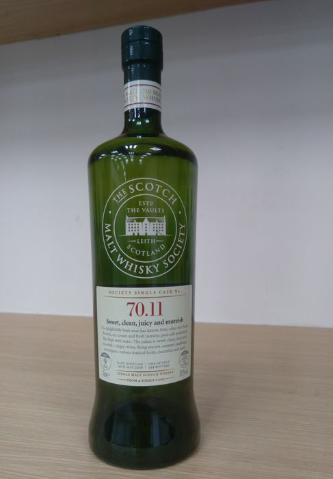 The Scotch Malt Whisky Society Cask No. 70.11 Sweet, clean, juicy and moreish