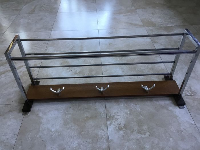Manufacturer Unknown Mid Century Modern Wall Coat Rack With 6