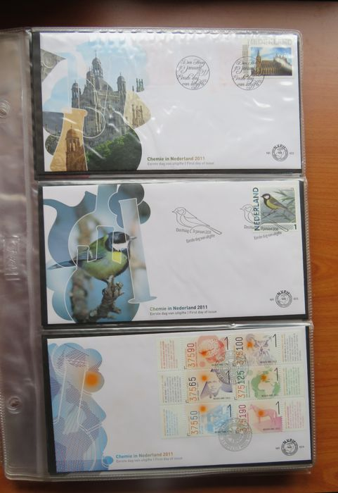 Nederland 2011/1013 - FDC Collection with Port Paid - NVPH E622/E672 + PBZ1/PBZ16