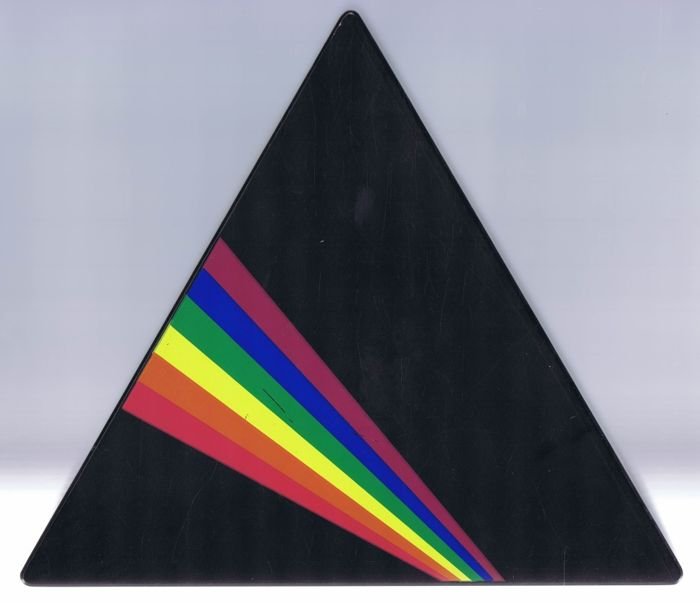 Pink Floyd - strictly limited shaped triangle wooden CD box-set of: Dark Side Of The Moon (personal number 599 of 1000 made.