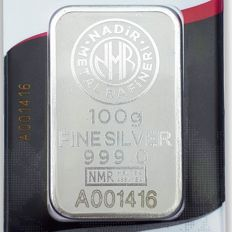 NADIR- 100 gr. - 999/1000 - Minted/ Sealed