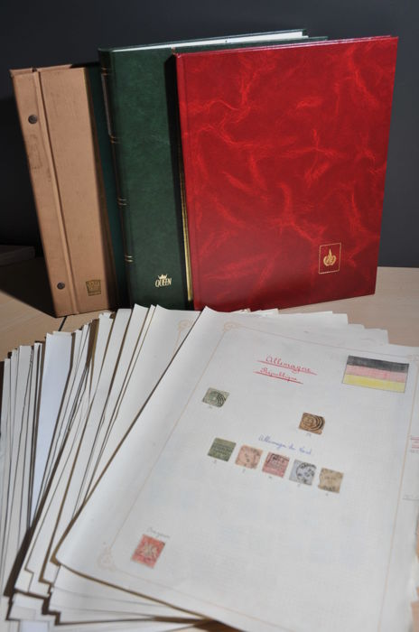 Duitsland 1872/2017 - Party in stock books and on album pages
