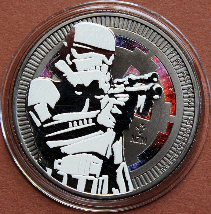 "Niue - 2 Dollar 2018 - Star Wars ""Stormtrooper"" coloured - 1 oz - Silver"