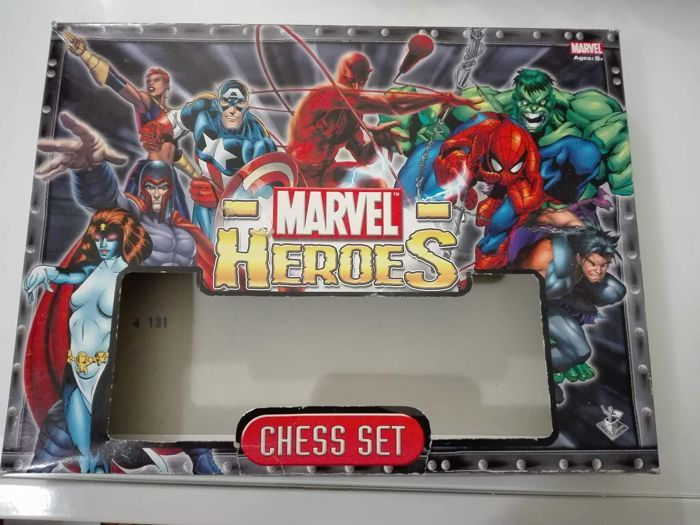 Marvel Heroes Chess Set - in its original box
