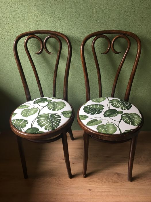 Two Dining Room Chairs In Thonet Style Zpm Radomsko Poland 1st