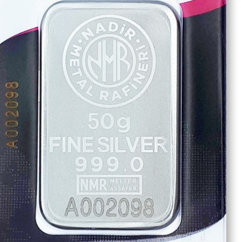 NADIR- 50 gr. - 999/1000 - Minted/ Sealed - *** No Reserve Price ***