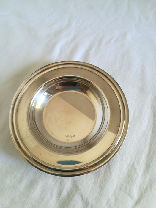 Posacenere in Silver Plated  - 1 - .1000 silver - Italy - 1950-1999