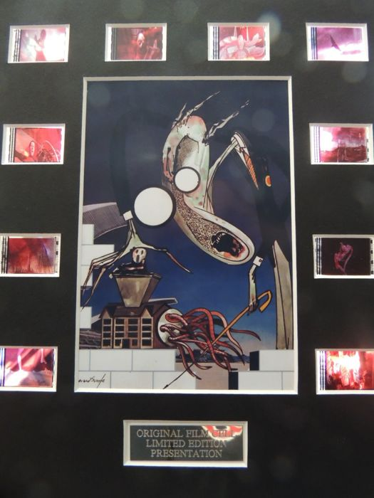 Stunning Rare  Pink Floyd - The Wall Original Film Cells  Presentation Disc Limited Edition presentation Disc - With Certificate of Authenticy