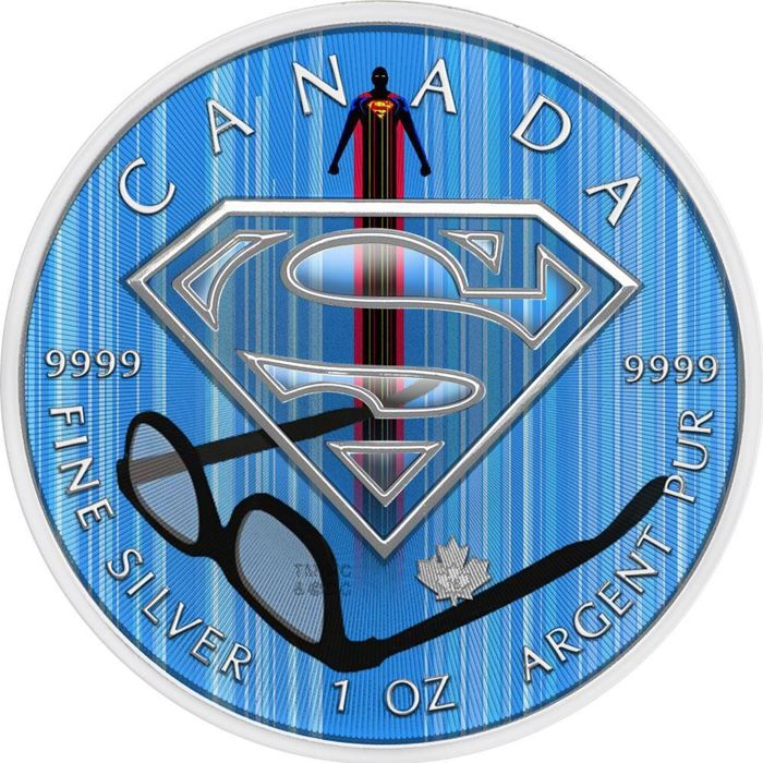 "Canada - 5 Dollar 2016 Superman ""Clark Kent´s Glasses"" - 1 Oz - Silver"