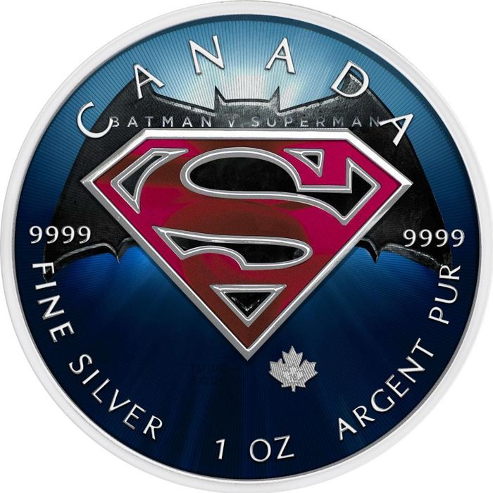 "Canada - 5 Dollar 2016 - ""Superman vs. Batman""- 1 Oz - Silver"