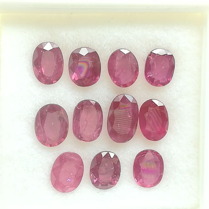 Lot of 11 rubies - 3.51 ct