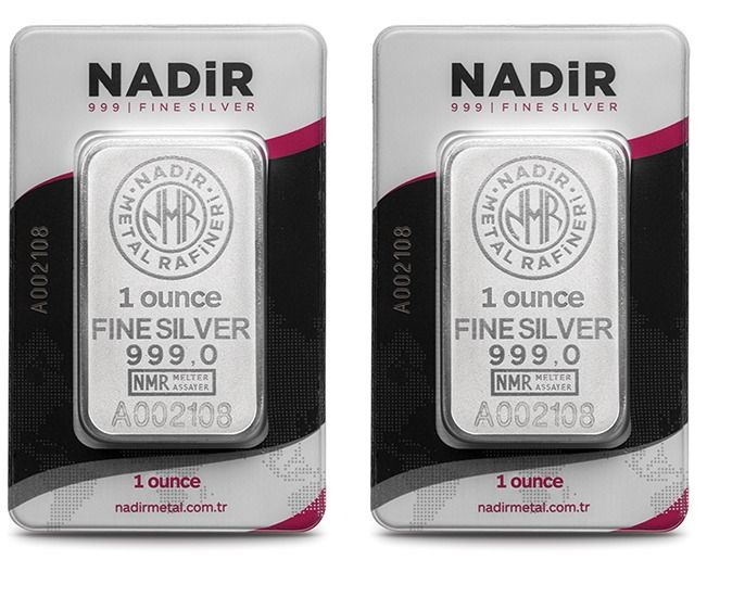 Turkey/ Nadir - 2 x 1 oz. total: 62.2 gr. - 999/1000 - Sealed/ Certificate *** No Reserve ***