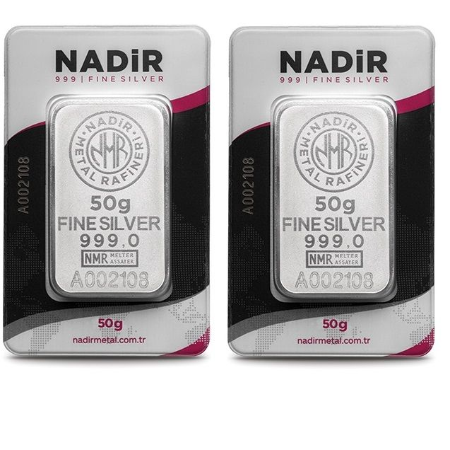 NADIR- 2 x 50 gr. - 999/1000 - Minted/ Sealed -