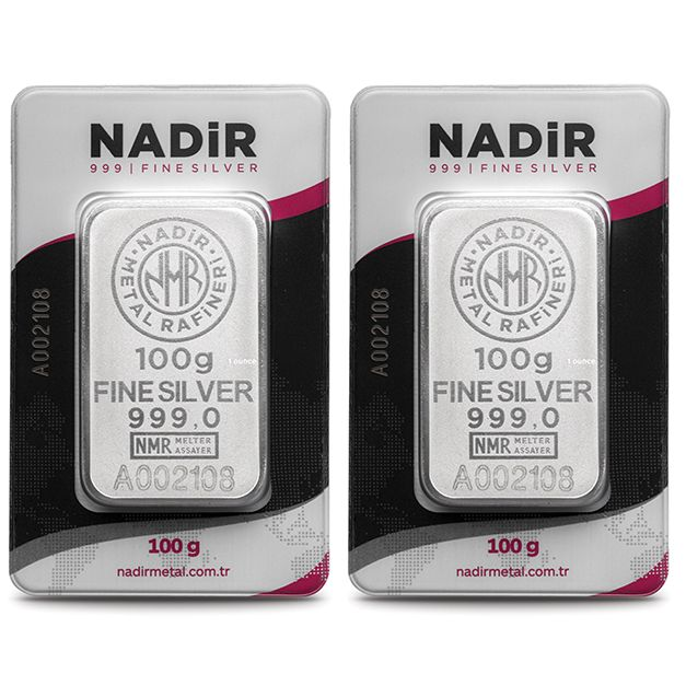 NADIR- 2 x 100 gr. - 999/1000 - Minted/ Sealed