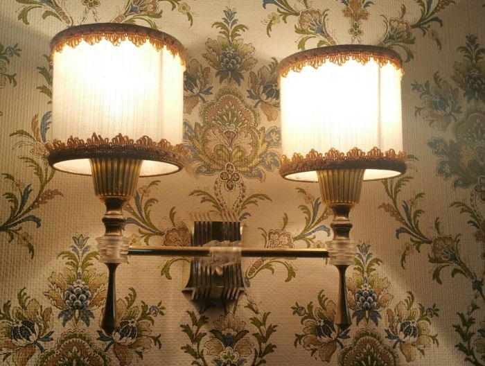 Pair of twin wall lights - 1960, France