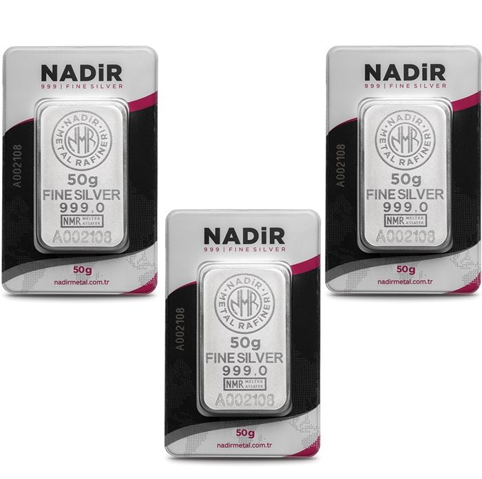 NADIR- 3 x 50 gr. - 999/1000 - Minted/ Sealed -