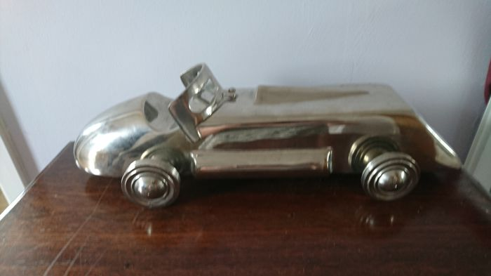 Art deco stainless Steel 1930 styled car
