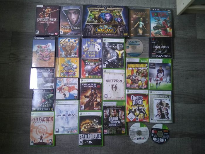 Lot of 28 games for PC / XBOX 360 / PS1 / PS2 - Trump Castle