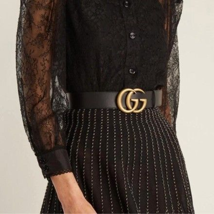 3a94c75cad0 Gucci - Double G Buckle Leather Belt - Catawiki