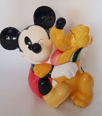 Disney Cookie Jars >> Walt Disney Cookie Jar Mickey Mouse Hugging Pluto Other Catawiki