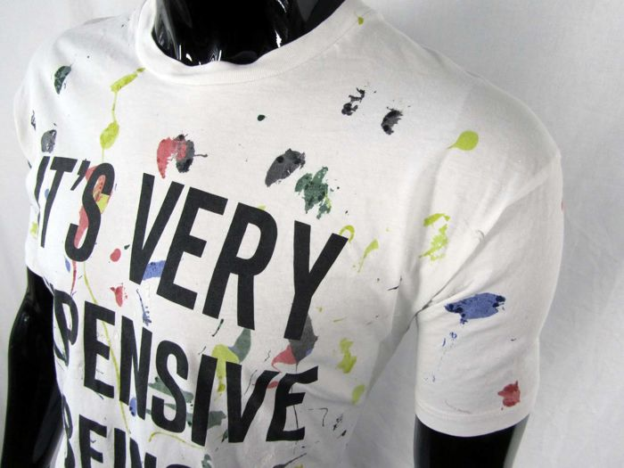 Moschino Couture - Rare Edition Paint Spot Being Moschino Shirt ... 6d60f680e0