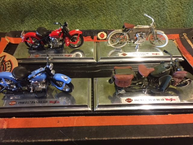 Models Toys Harley Davidson By Maisto 1909 1948 4 Items
