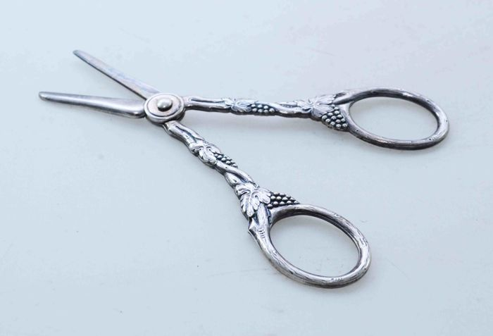 scissors - Silver plated - Sweden - 1800-1900