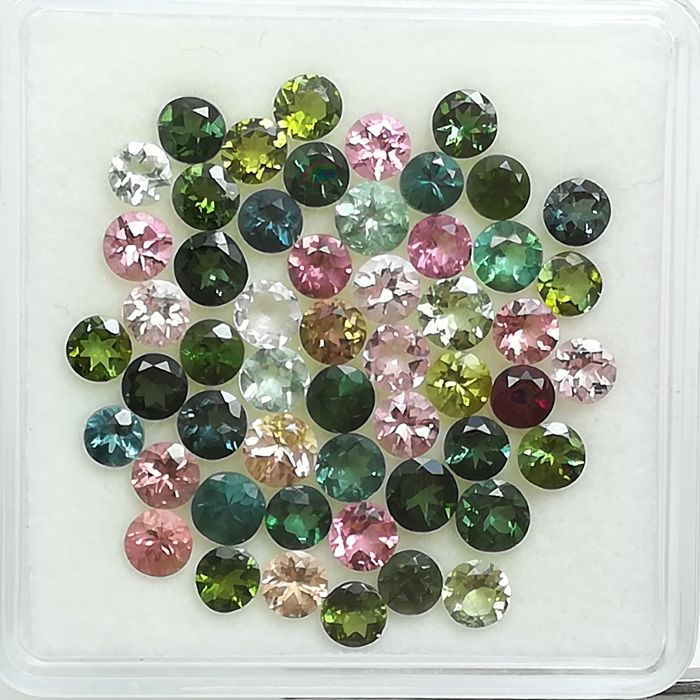 Lot of 53 Tourmalines - 10.22 ct