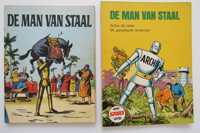 Archie de man van staal 1 + Sjors uitgave - Man van staal / Archie als ridder - Softcover - First Edition - (1962/1973)