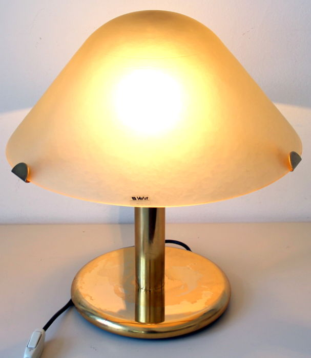 VeArt - Satin glass table lamp (44 cm)