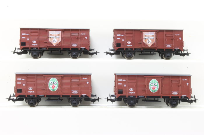 Piko H0 - 97065/97075 - Freight carriage - 4x Bierwagens - NMBS