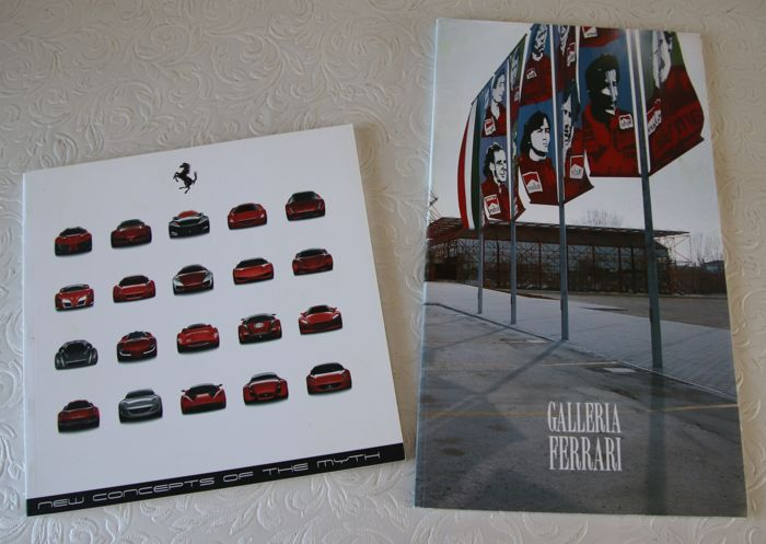 Brochures / Catalogi - Ferrari Galleria and Concepts of the Myth - 1991-2006 (2 items)