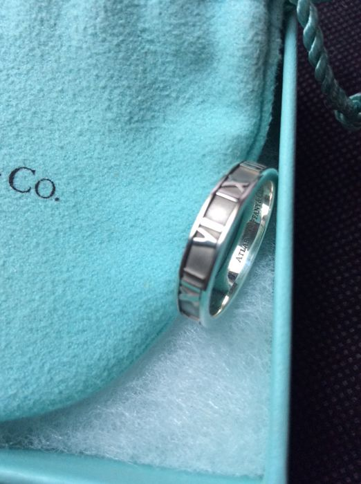 28e4d41ef Tiffany & Co. Sterling Silver Atlas Narrow Thin Ring-No Reserve Price
