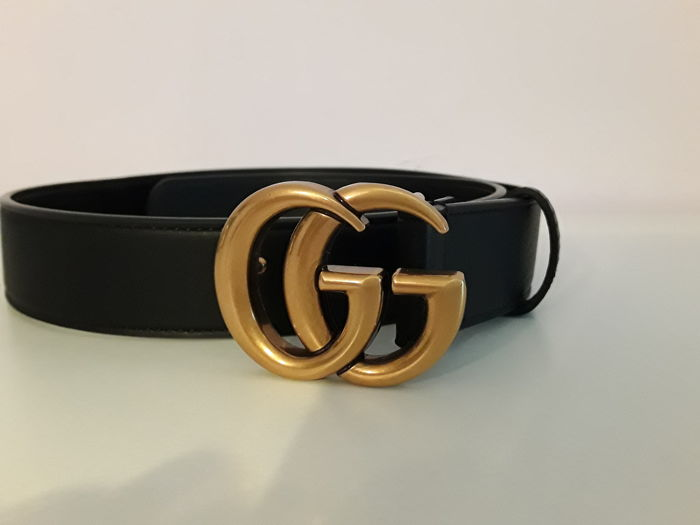 3fb6f59acb4 Gucci - Double G Buckle Leather Belt - Catawiki