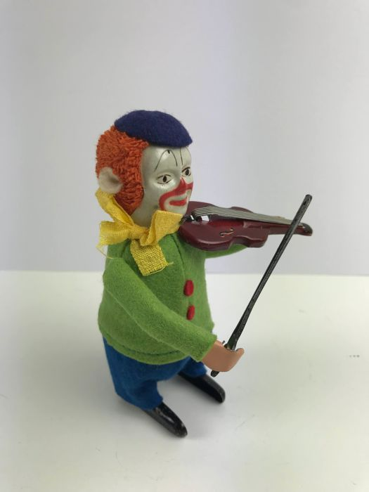 Schuco clown with violin