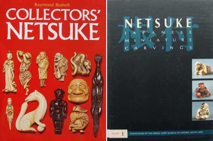 2 livres: Netsuke de collection et - Netsuke, sculptures miniatures japonaises - Japon - mixte
