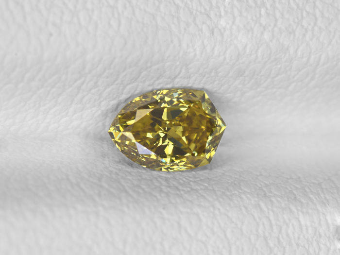 Fancy Brownish Yellow Color Diamond - 0.46 ct
