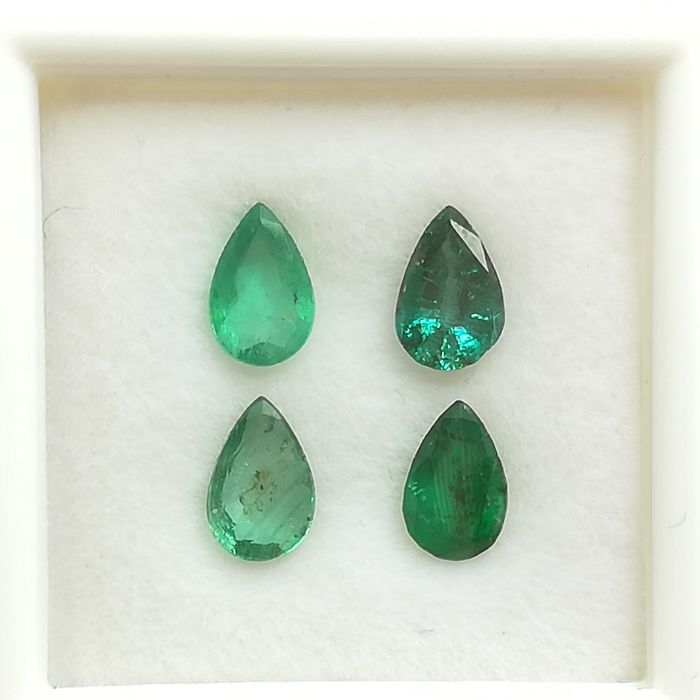 Lot of 4 Emeralds - 1.65 ct *No reserve price*