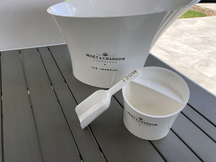 Moet et Chandon 'Ice Imperial' Cooler for 2 magnum bottles & Moet et Chandon 'Ice Imperial' ice bucket with ice scoop
