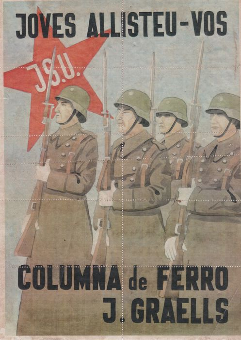 Anonymous - Columna de Ferro, Guerra Civil - 1938