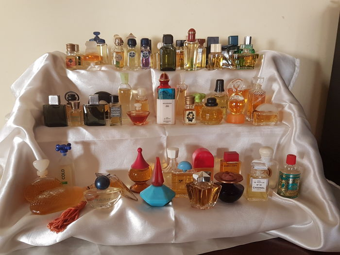 Collection of 60 miniature perfumes