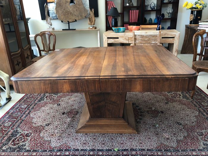 Original Art Deco Extendable Dining Table