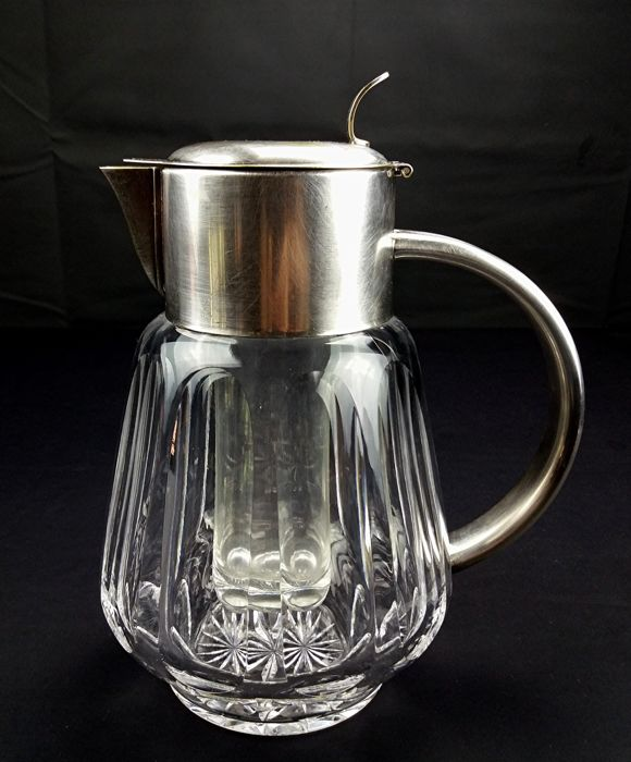 Bohemian crystal - Large ewer for serving drinks at the table