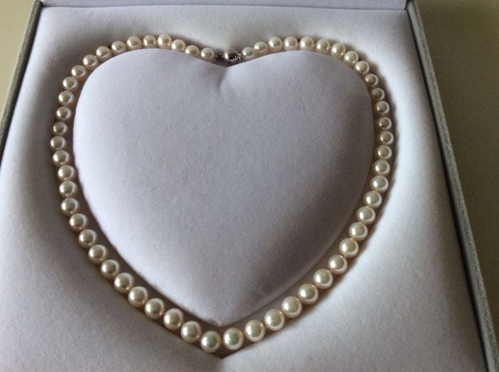 Akoya pearl necklace 7,5 mm
