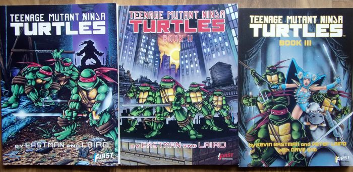 Collection Of Trade Paperbacks And Comics Including Teenage Mutant
